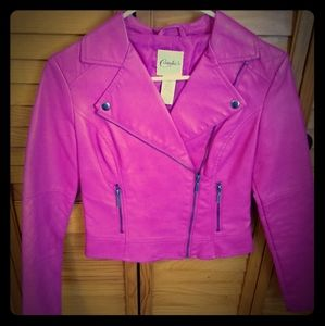 Pink pleather jacket